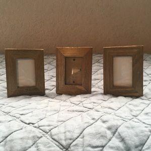 Cute set of 3 mini picture frames